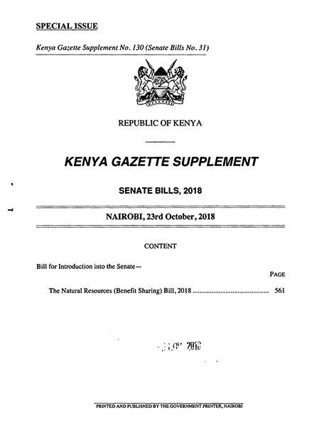 Natural Resources BenefitSharing Bill 2018