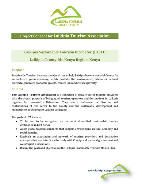 Project Concept of the Laikipia Tourism Association