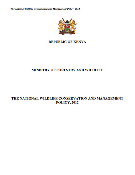 The National Wildlife Conservation and Management Policy. 2012